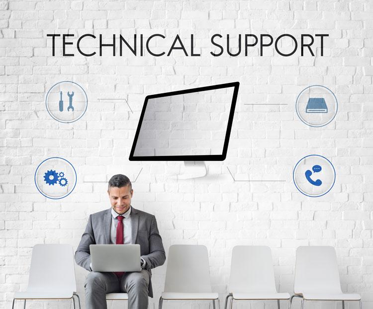 Man needing technical  support